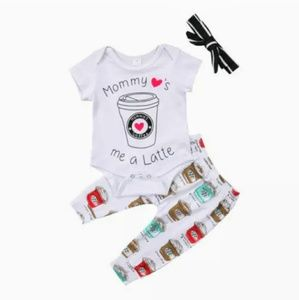 Other - New Mom's Latte 3pc Outfit